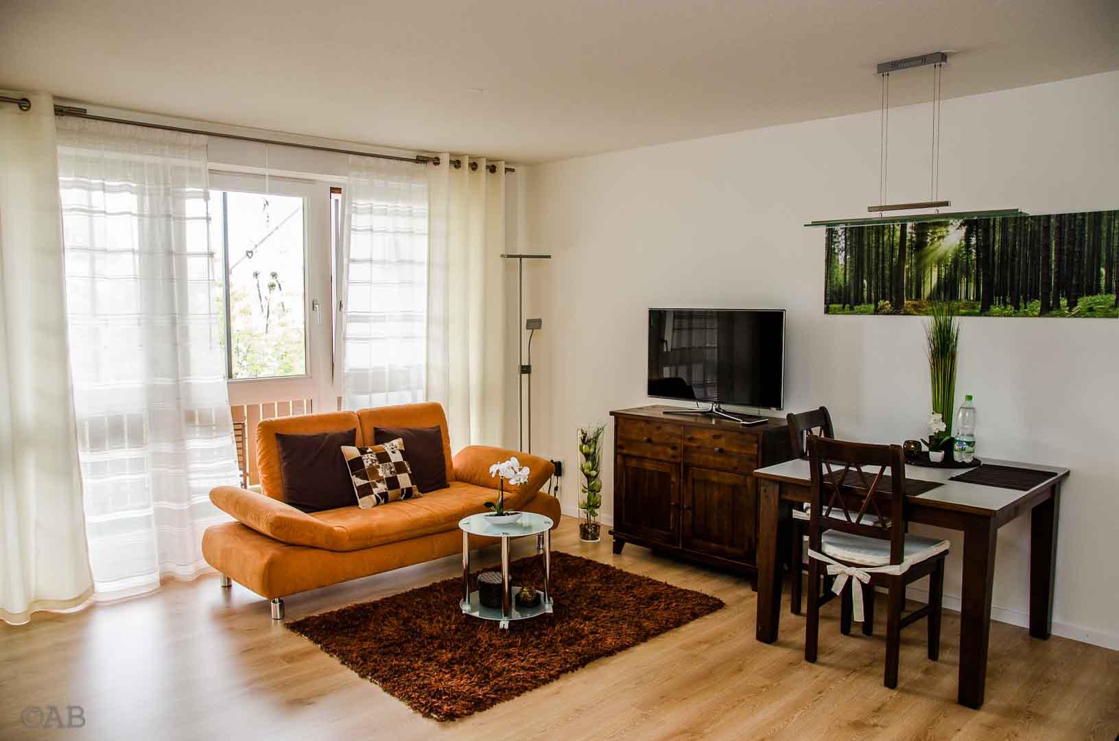 exclusives möbliertes Appartement in Königsbrunn bei Augsburg; Wohnzimmer